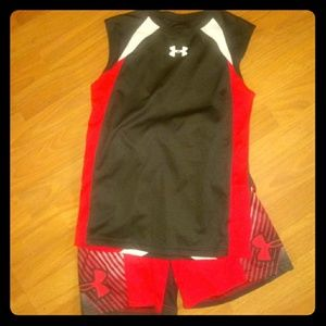 Boys UNDER ARMOUR shorts set